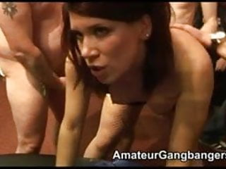 British Housewife Gangbang