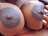 Ebony 8 months pregnant loves cock