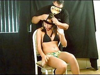 Black cutie bound and pantyhose and bikini...