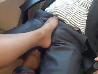 Sexy  Pantyhose Footjob Tease