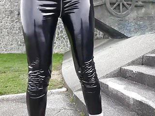 vinyl pvc leggingsPorn Videos