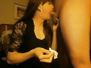 Tranny nice blowjob and handjob cum...