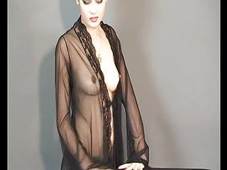 Nudist Babe Mature video: Ziva Galore - See Through Dress