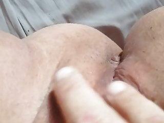Masturbating pussy creampie...