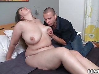 Chubby chick gets pussy pounded blowjob...