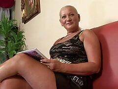 BBW Granny Anal Casting
