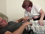 mother caught NOT her step-son and get Hardcore fuck