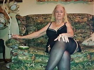 Nylon granny in Nylon XXX