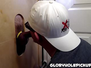 He really loves blowing hole tool like a...