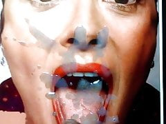Salma Hayek - Cum Tribute(emptying on her mouth and tongue)