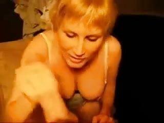 Slut Brit. wife sucks HUGE cock