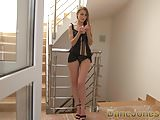 Dane Jones Long legs redhead gives her man sexy lingerie