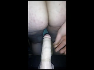 Fat penetrated by fat and huge dildo...