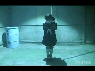 JAV Schoolgirl tied including gagged in warehouse