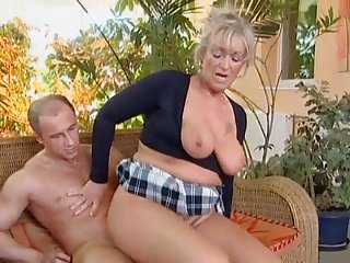 Busty blonde granny discovers...