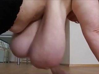 Granny show huge tits...