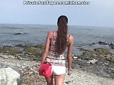 Hot amateur porn with awesome sex on the beach scene 3