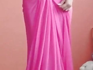 hot saree open