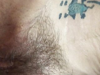 tattooed hairy Skinny  pussy quickie granny with creampie