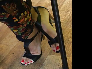 Candid feet and heels at work #15