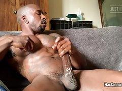 Max Konnor Masturbating - Huge Ebony Spear Solo