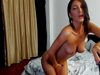 Brunette Stunning And Fingering Teasing Bald Pussy Her