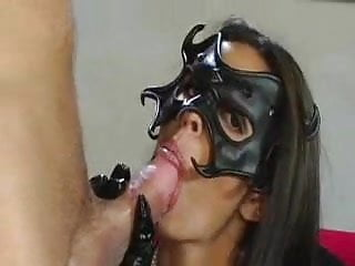 Shy Love with mask facialized