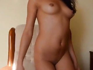 Solo naturally busty Indian desi babe