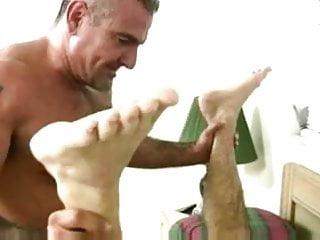 Muscle having babreback sex...