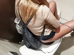 public toilet voyeur of a pretty blondePorn Videos