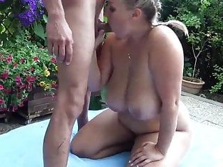 Desperate Divorced Wife with Big Boobs Pleasing Her Boss
