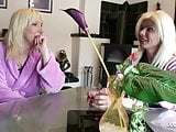 German Mom and Aunt Seduce Friend of Son Blow his Big Cock