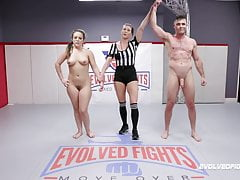 Carmen Valentina Vs Lance Hart In Combined Nude Wrestling Fight
