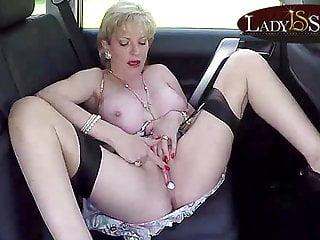 Masturbating backseat of a car...