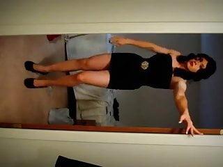 In Black Dress Crossdresser Katilyn Party