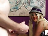 Naughty British student tease teacher in JOI