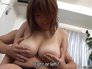 Subtitled bbw tan big breasts fondling...