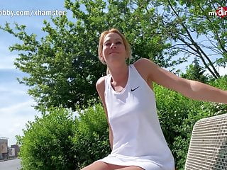 mydirtyhobby - german blonde milf outdoor creampiePorn Videos