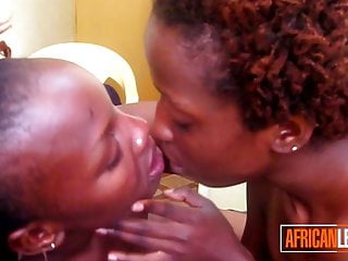 Legit African Rug munchers Passionately Kissing