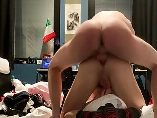 Young American student fucks me in his room of the college