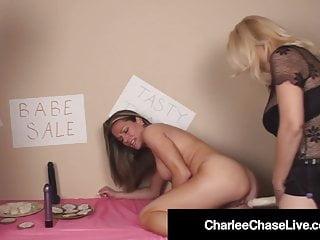 Dick Yearning Cougar Charlee Chase & Allura Skye Suck Cock!