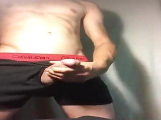 Cum in his ck underwear...