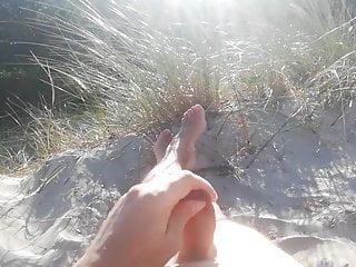 Masturbation on beach...