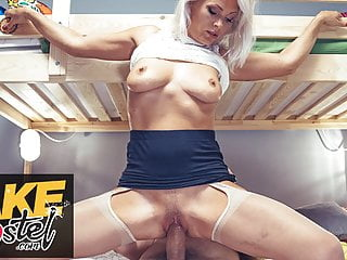 Fake Hostel real mature milf with nice natural tits fucks