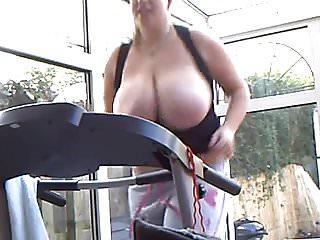 monster breast running