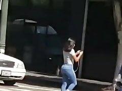 Super Fit Arse Supah Taut Denim Fledgling Candid Booty
