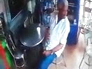 Man caught on security camera masturbating