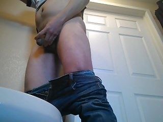 Panty and fishnet pee...