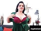 Super Curvy Angelina Castro Spit Shines & Milks A Hard Dick!