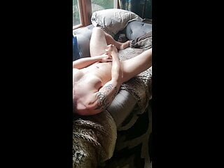 Married Guy Jerks Off In Living Room